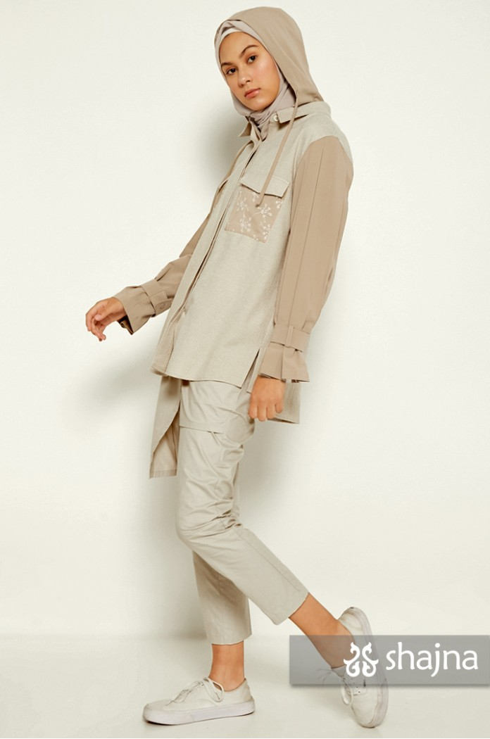 CREAM DEVORA SHIRT JACKET - SK1028