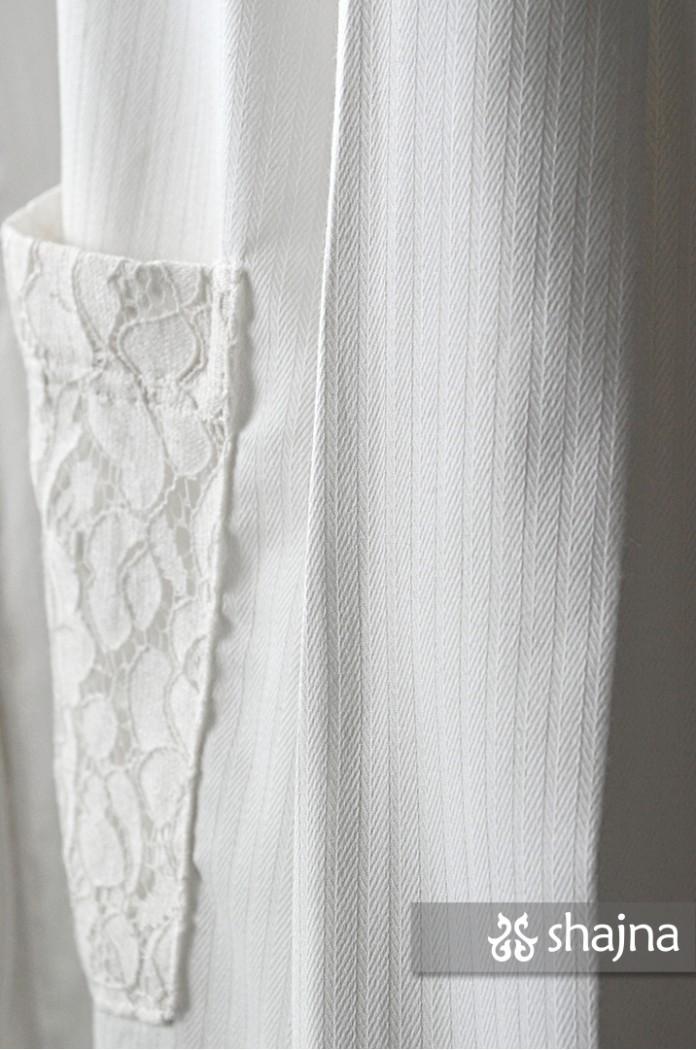 WHITE STORIA SHIRT - SK1042