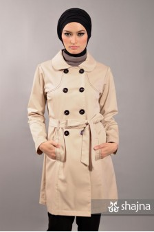 SK329A - CONTRAST STITCH TRENCH COAT