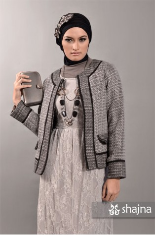 SK331A - GREY JERSEY-LACE DRESS