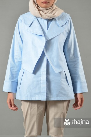 SK548A - BLUE MADISON COAT