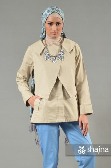 SK548B - CREAM MADISON COAT