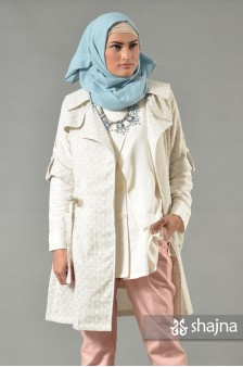 SK610A - WHITE SHELBY COAT