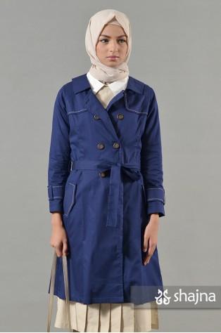 SK718 - BLUE ZINNIA COAT