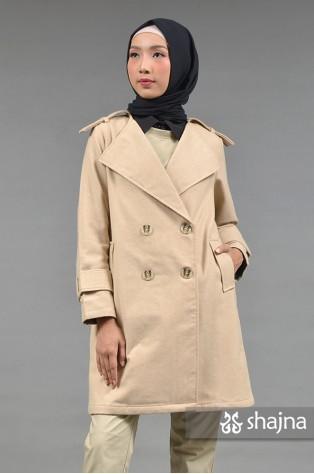 SK876 - CREAM ALKEA COAT