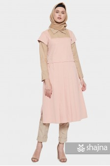 SK950 - PEACH KAMI MIDI DRESS