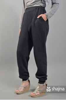 SKC057B - HOUNDSTOOTH MEGUMI TROUSERS