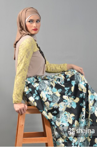 SKR057A - YELLOW TOSCA ACACIA SKIRT