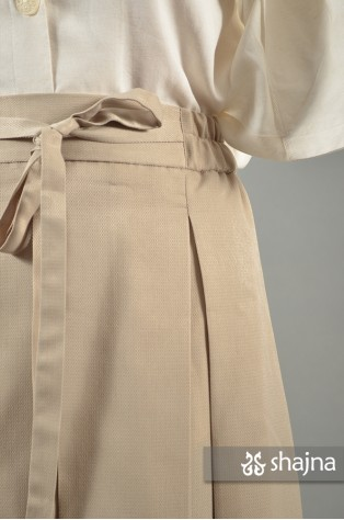SS065A - CREAM KANNA SKIRT