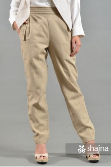 ST070B - CREAM EDINNA TROUSERS