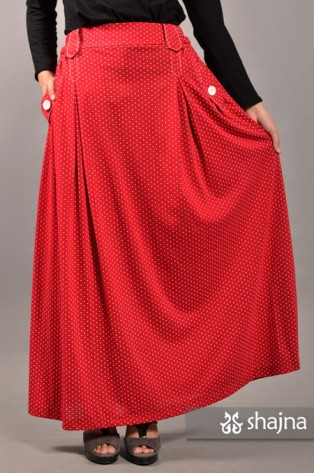 SKR041A - RED LIZZY SKIRT