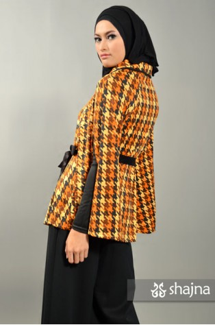 SK367 - HOUNDSTOOTH JERSEY CAPE