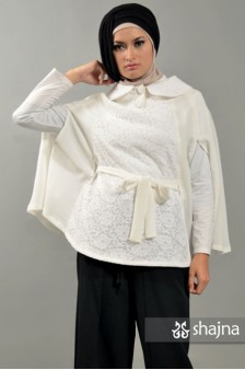 SK373 - CHIFFON AND LACE CAPE