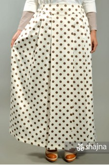 SKR039 - POLKADOT SATIN SKIRT