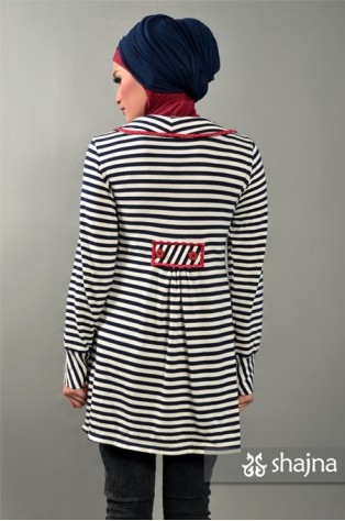 SK347 - STRIPED JERSEY TOP