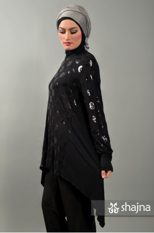 SK350 - SEQUINED ASYMMETRICAL TOP